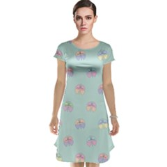 Butterfly Pastel Insect Green Cap Sleeve Nightdress