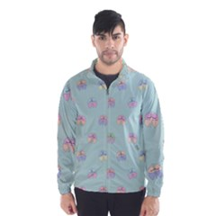 Butterfly Pastel Insect Green Wind Breaker (Men)