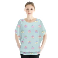 Butterfly Pastel Insect Green Blouse