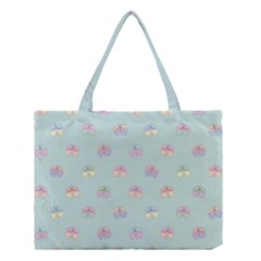 Butterfly Pastel Insect Green Medium Tote Bag