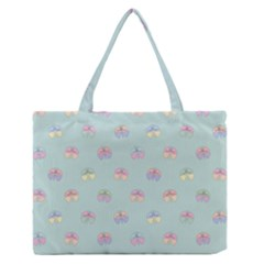 Butterfly Pastel Insect Green Medium Zipper Tote Bag