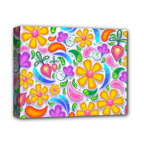 Floral Paisley Background Flower Deluxe Canvas 14  x 11