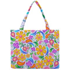 Floral Paisley Background Flower Mini Tote Bag