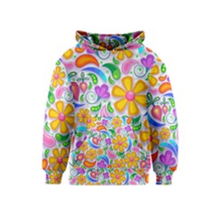 Floral Paisley Background Flower Kids  Pullover Hoodie