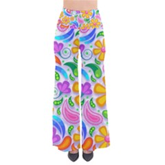 Floral Paisley Background Flower Pants