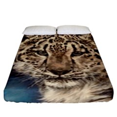 Snow Leopard Fitted Sheet (king Size)