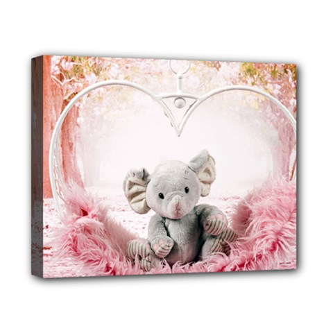 Elephant Heart Plush Vertical Toy Canvas 10  x 8