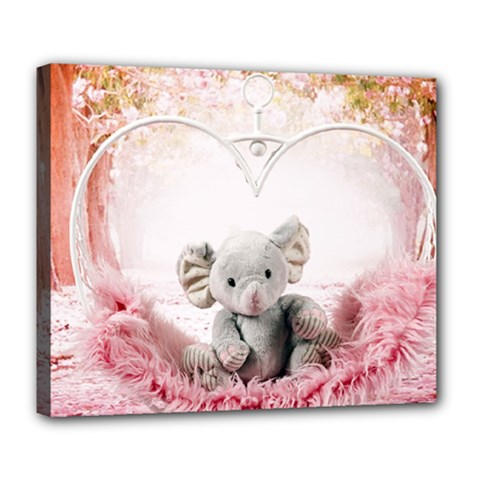 Elephant Heart Plush Vertical Toy Deluxe Canvas 24  x 20