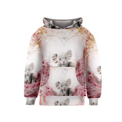 Elephant Heart Plush Vertical Toy Kids  Pullover Hoodie