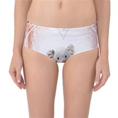 Elephant Heart Plush Vertical Toy Mid-Waist Bikini Bottoms