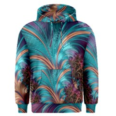 Feather Fractal Artistic Design Men s Pullover Hoodie