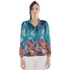 Feather Fractal Artistic Design Wind Breaker (Women)