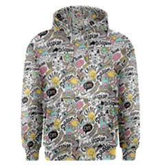 Communication Web Seamless Pattern Men s Pullover Hoodie