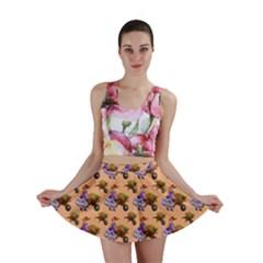 Flowers Girl Barrow Wheel Barrow Mini Skirt