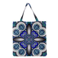 Fractal Cathedral Pattern Mosaic Grocery Tote Bag