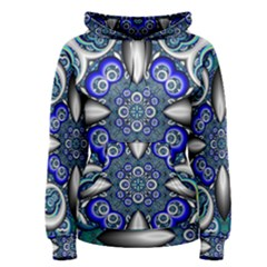 Fractal Cathedral Pattern Mosaic Women s Pullover Hoodie