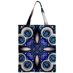 Fractal Cathedral Pattern Mosaic Zipper Classic Tote Bag