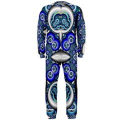 Fractal Cathedral Pattern Mosaic OnePiece Jumpsuit (Men)