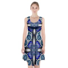 Fractal Cathedral Pattern Mosaic Racerback Midi Dress