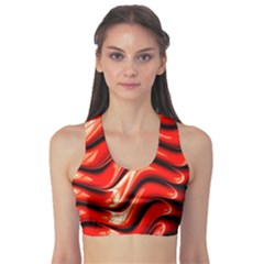 Fractal Mathematics Abstract Sports Bra
