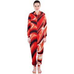 Fractal Mathematics Abstract Hooded Jumpsuit (Ladies)