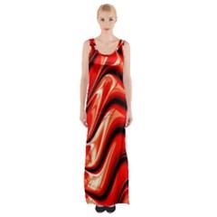 Fractal Mathematics Abstract Maxi Thigh Split Dress