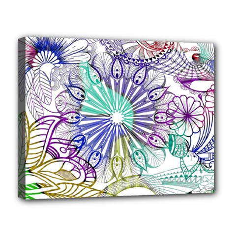 Zentangle Mix 1116a Canvas 14  x 11