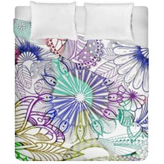 Zentangle Mix 1116a Duvet Cover Double Side (california King Size)