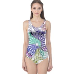 Zentangle Mix 1116a One Piece Swimsuit