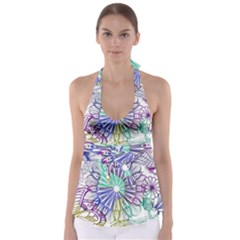 Zentangle Mix 1116a Babydoll Tankini Top