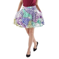Zentangle Mix 1116a A-Line Pocket Skirt