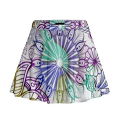 Zentangle Mix 1116a Mini Flare Skirt
