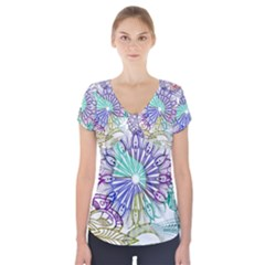 Zentangle Mix 1116a Short Sleeve Front Detail Top