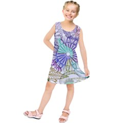 Zentangle Mix 1116a Kids  Tunic Dress