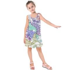 Zentangle Mix 1116a Kids  Sleeveless Dress