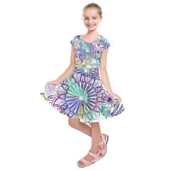 Zentangle Mix 1116a Kids  Short Sleeve Dress