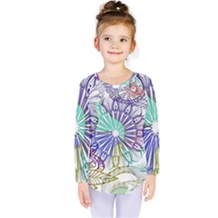 Zentangle Mix 1116a Kids  Long Sleeve Tee