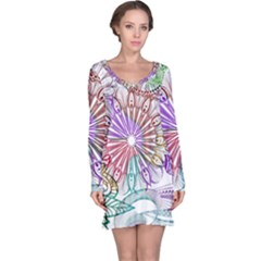 Zentangle Mix 1116b Long Sleeve Nightdress