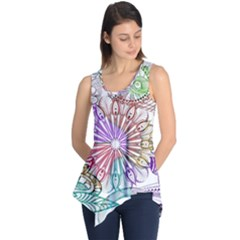 Zentangle Mix 1116b Sleeveless Tunic
