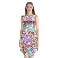 Zentangle Mix 1116b Sleeveless Chiffon Dress
