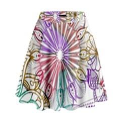 Zentangle Mix 1116b High Waist Skirt