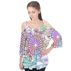 Zentangle Mix 1116b Flutter Tees