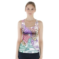 Zentangle Mix 1116b Racer Back Sports Top