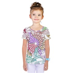 Zentangle Mix 1116b Kids  One Piece Tee