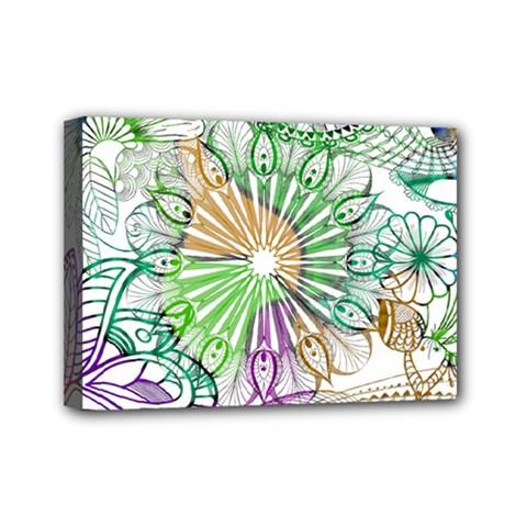 Zentangle Mix 1116c Mini Canvas 7  x 5