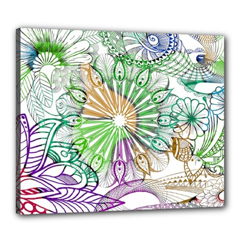 Zentangle Mix 1116c Canvas 24  x 20