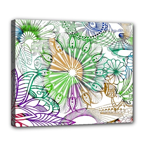 Zentangle Mix 1116c Deluxe Canvas 24  x 20