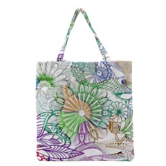 Zentangle Mix 1116c Grocery Tote Bag