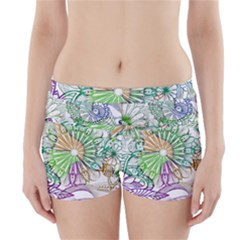Zentangle Mix 1116c Boyleg Bikini Wrap Bottoms