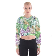 Zentangle Mix 1116c Women s Cropped Sweatshirt